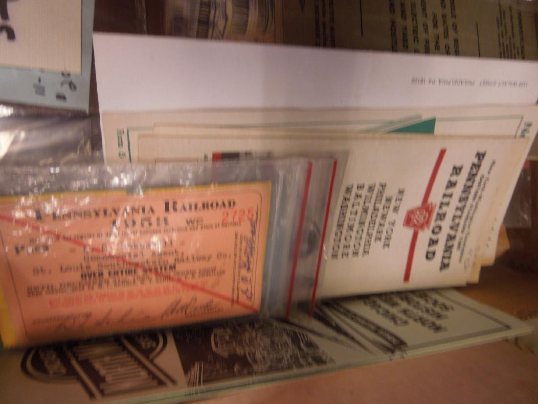 Lot Assorted Railroad Ephemera - 2