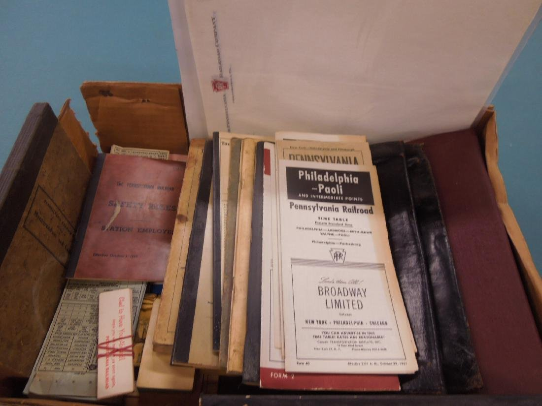 Lot PRR Books, Time Tables & Other