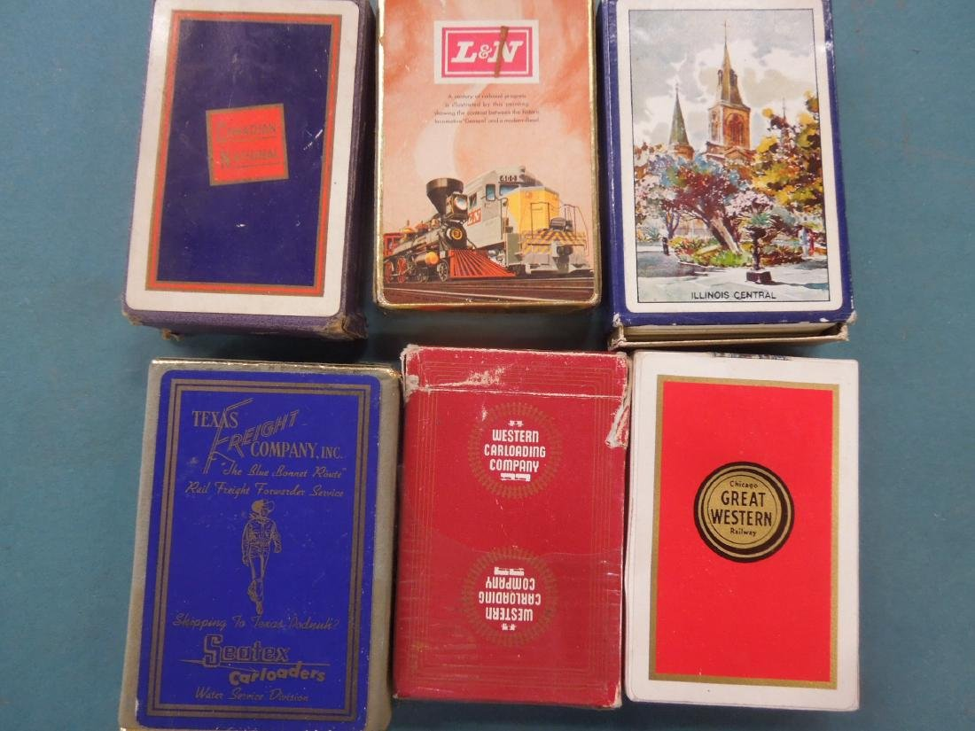 Packs of Assorted Railroad Playing Cards
