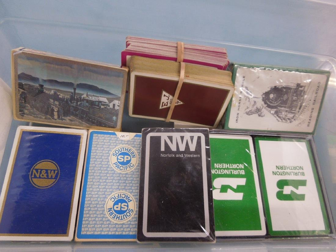 Packs of Assorted Railroad Playing Cards - 3