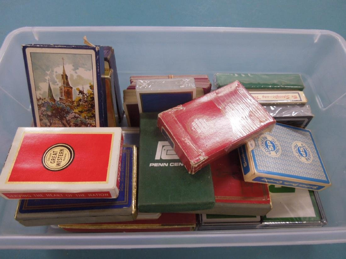 Packs of Assorted Railroad Playing Cards - 4