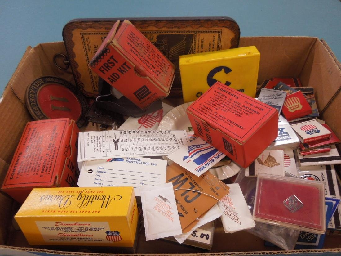Lot Assorted Railroad Collectibles