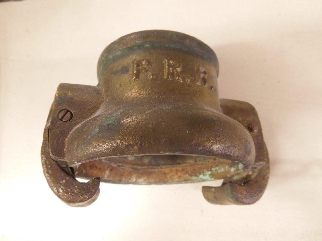Vintage P.R.R. Brass Hose Coupling
