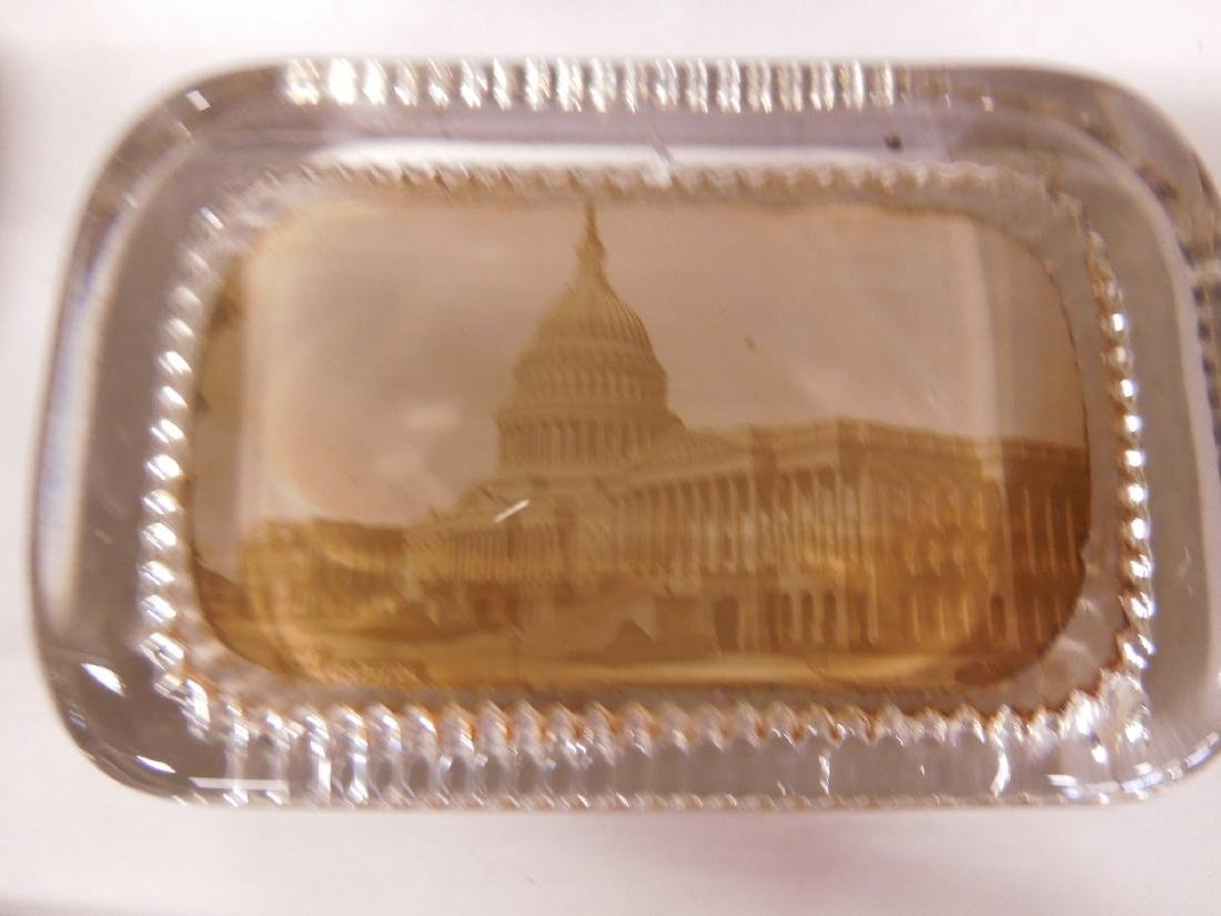 5 Glass Photo Paperweights, Trolley & Other - 3