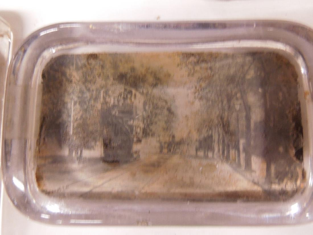 5 Glass Photo Paperweights, Trolley & Other - 4