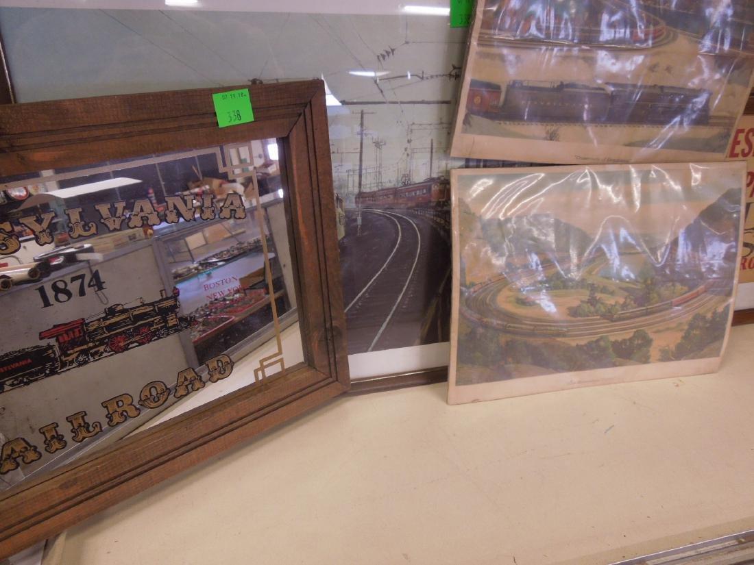 Framed Locomotive Print, Mirror & Other