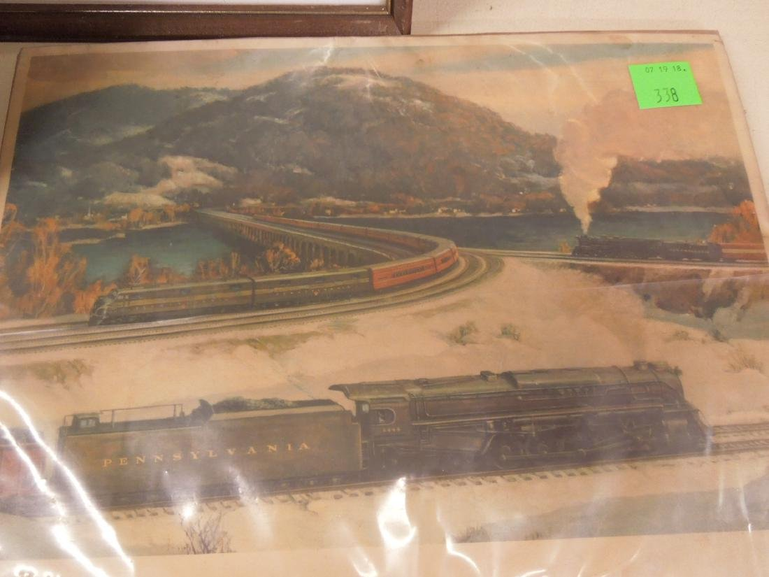 Framed Locomotive Print, Mirror & Other - 3
