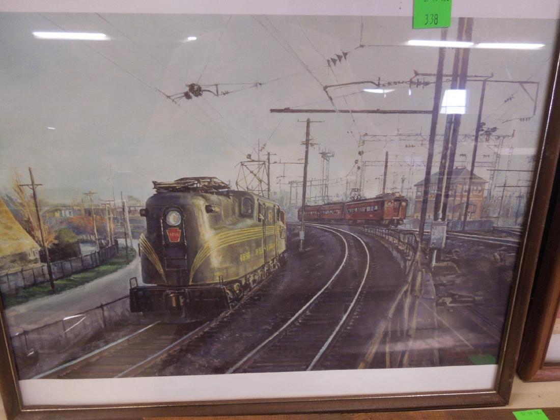 Framed Locomotive Print, Mirror & Other - 5