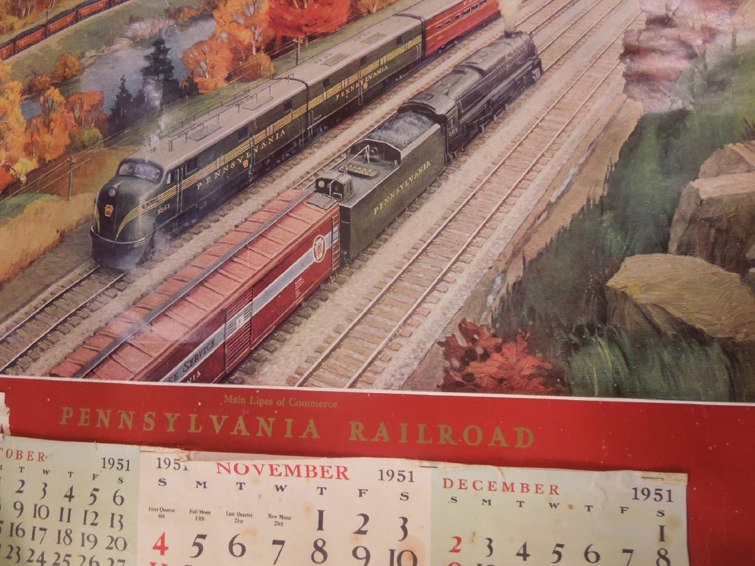 Rolled Map & P.R.R. Calendars