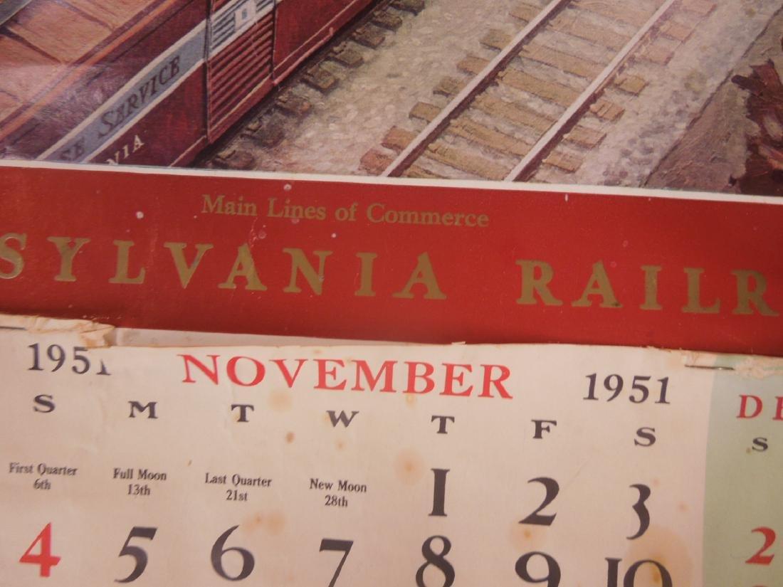 Rolled Map & P.R.R. Calendars - 2
