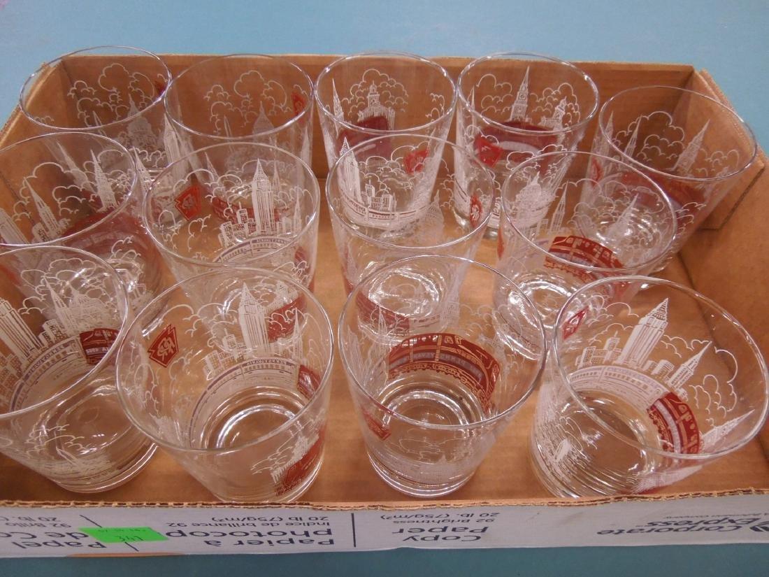 13 Pennsylvania Railroad Drinking Glasses
