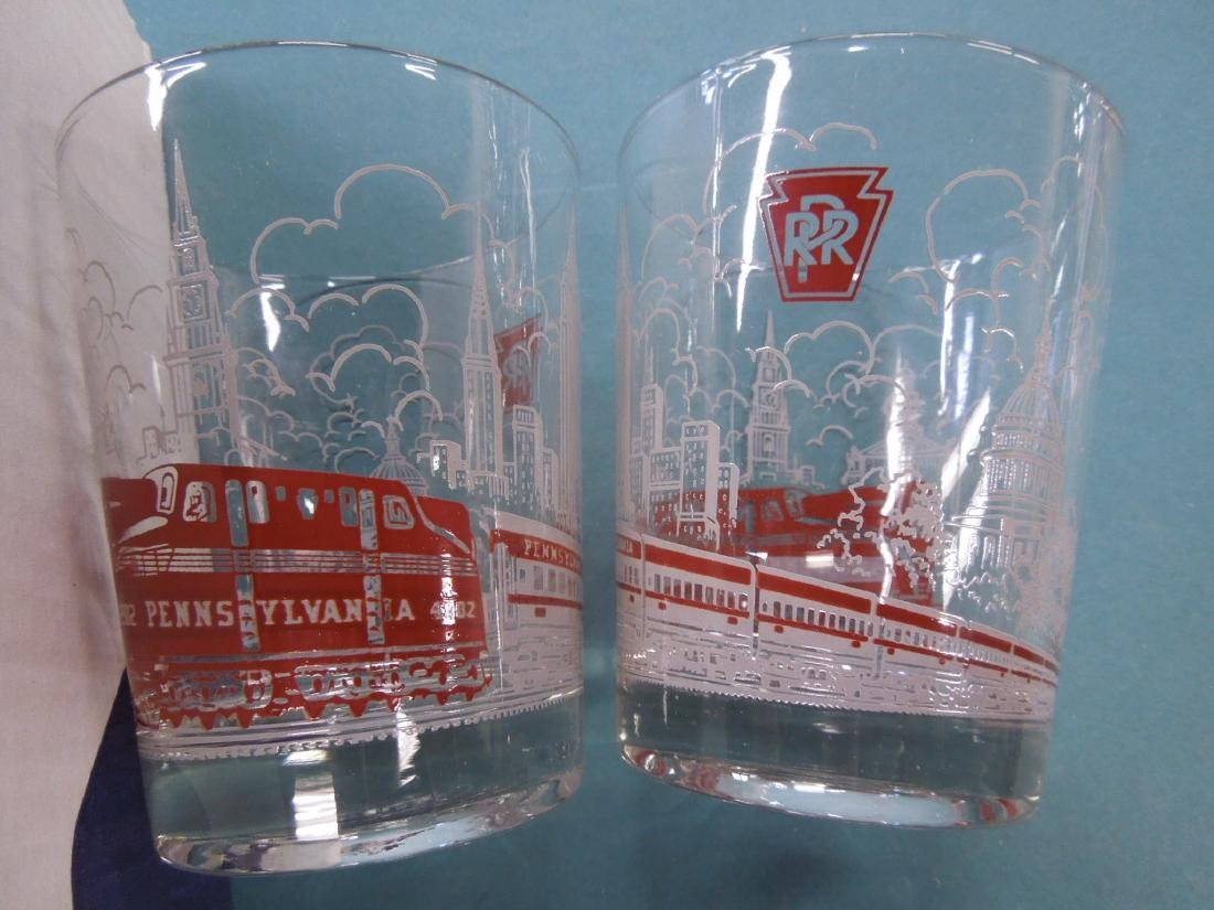 13 Pennsylvania Railroad Drinking Glasses - 2