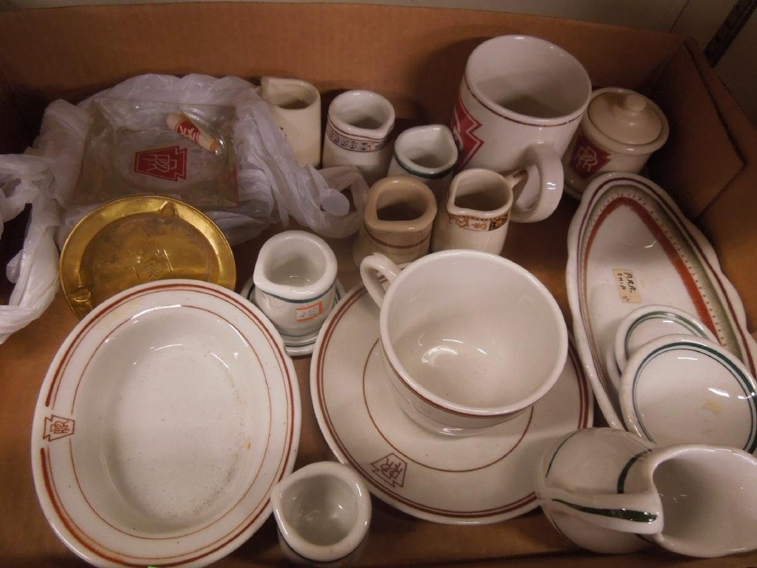 Assorted P R.R. Dining Car Accessories