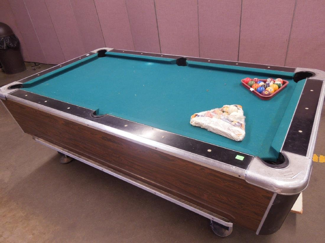 Vintage Coin Operated Pool Table