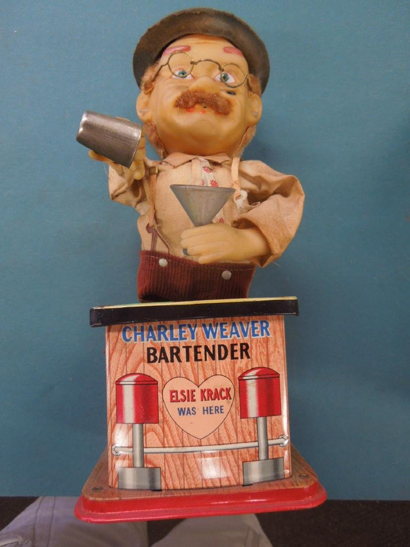 2 Vintage Tin Battery Operated Bar Tenders - 5