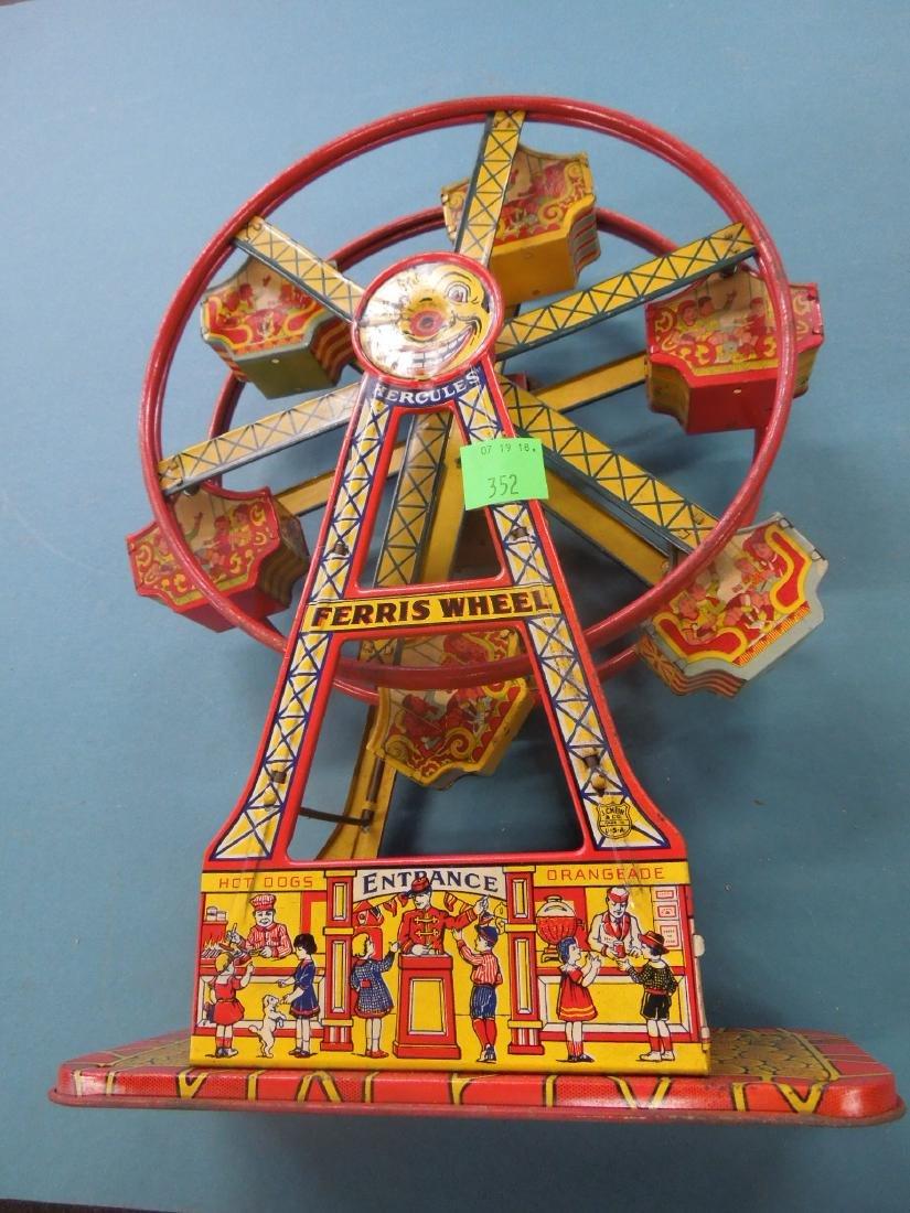 Vintage Tin Litho Ferris Wheel