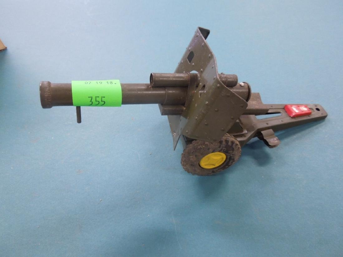 Vintage Tin Artillery Cannon