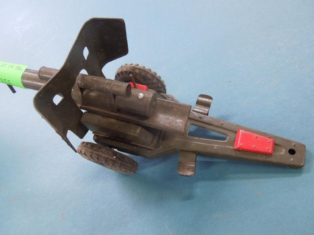 Vintage Tin Artillery Cannon - 2