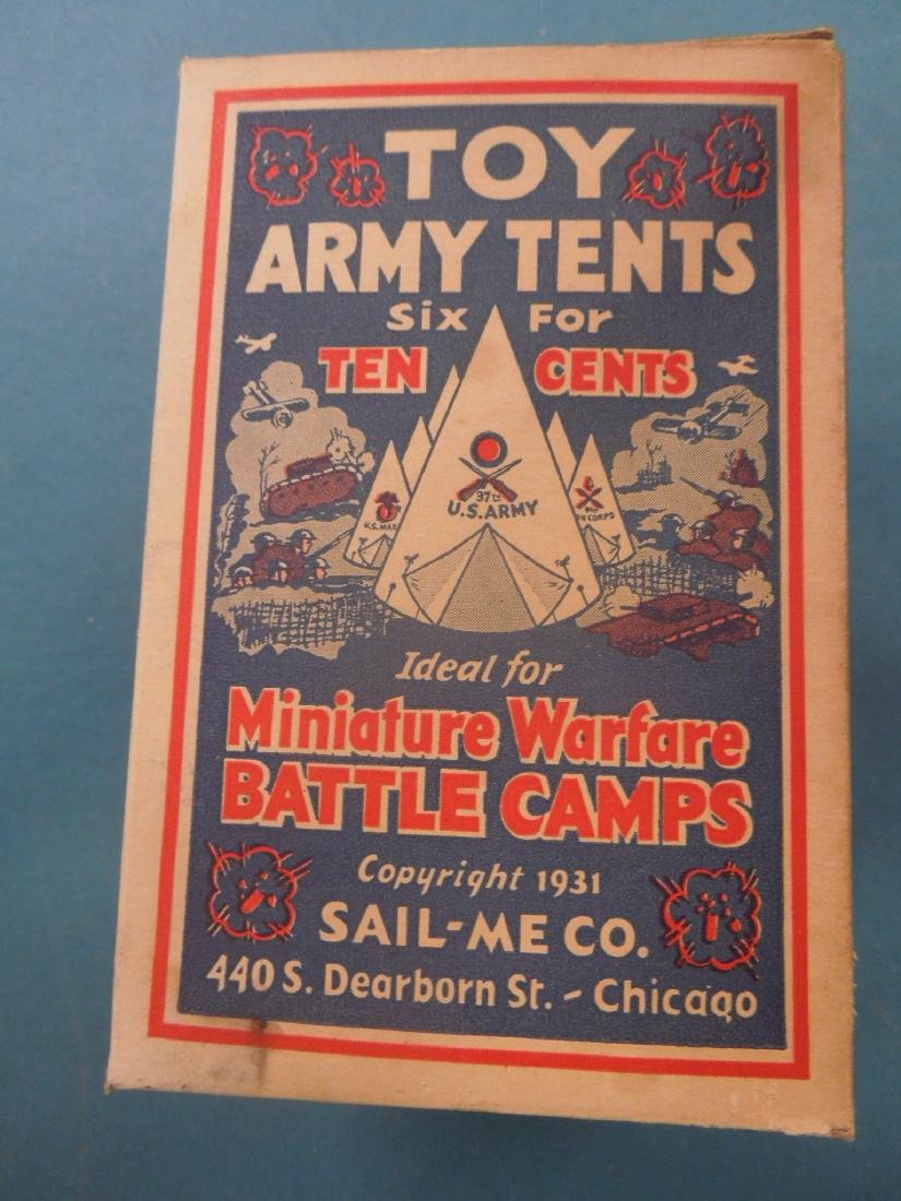 2 Boxes Rare Vintage Toy Army Tents - 2