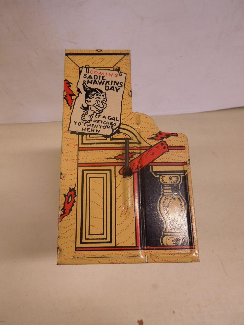 Vintage Tin Litho Wind-up Toy Piano - 3