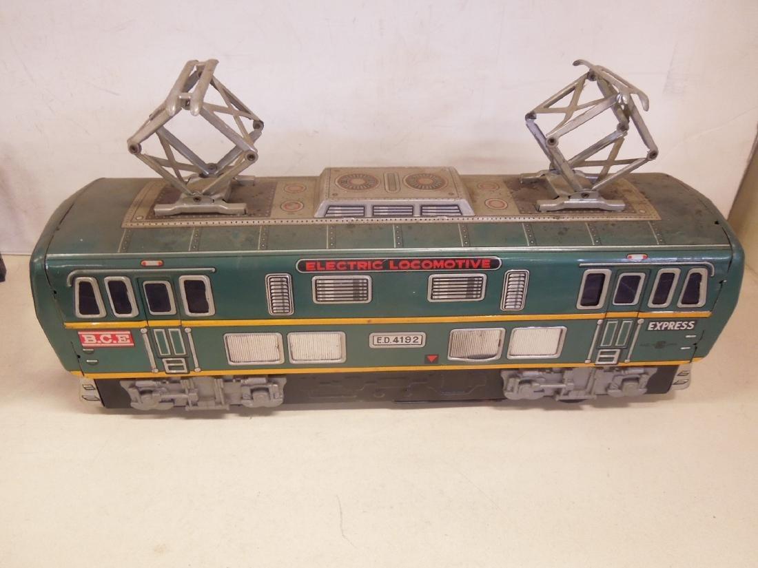 Vintage Tin Litho Battery Operated Locomotive - 2