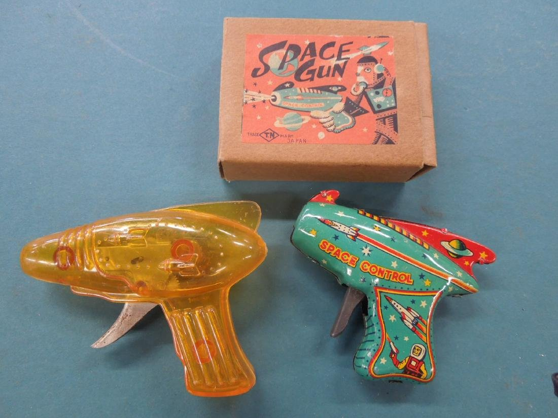 2 Vintage Friction Space Guns
