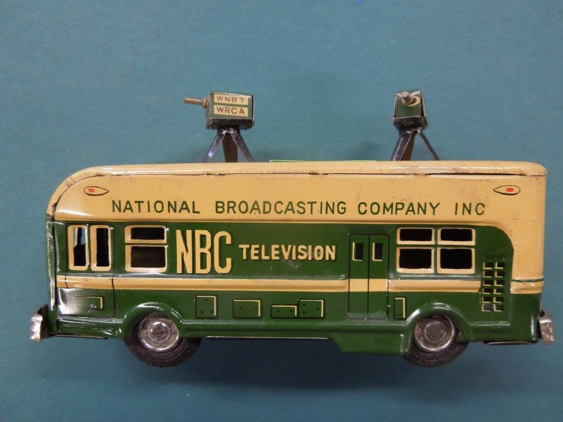 1950s NBC Television Tin Friction Bus