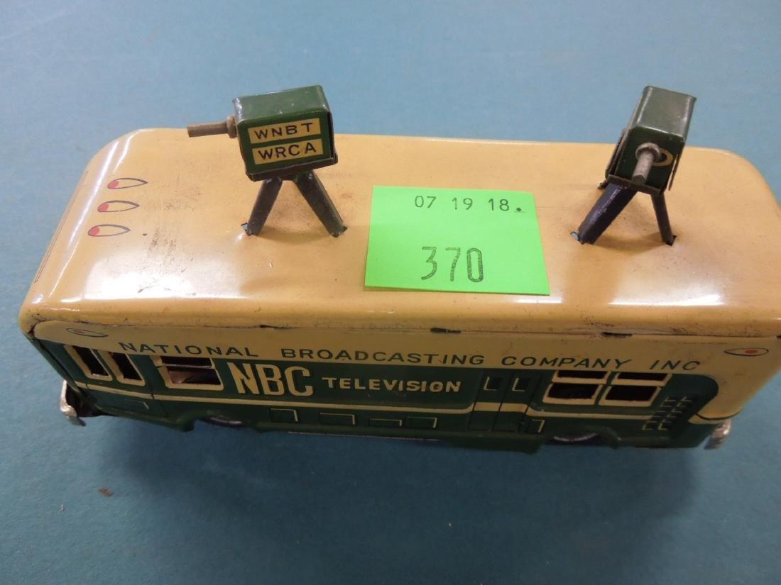1950s NBC Television Tin Friction Bus - 2