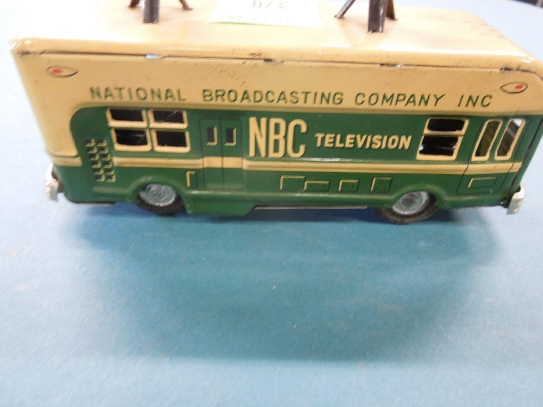 1950s NBC Television Tin Friction Bus - 4