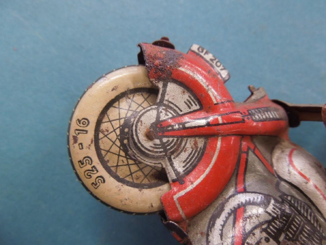 Vintage Tin Litho Wind-up Motorcycle - 3