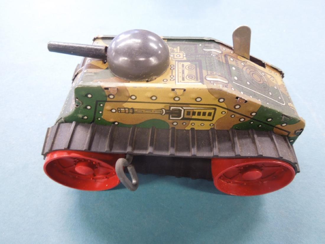 5 Tin Litho Wind-up Tanks - 6