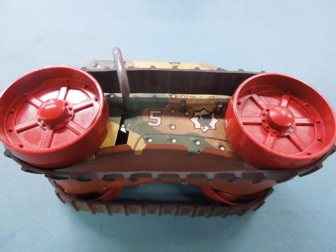 5 Tin Litho Wind-up Tanks - 7