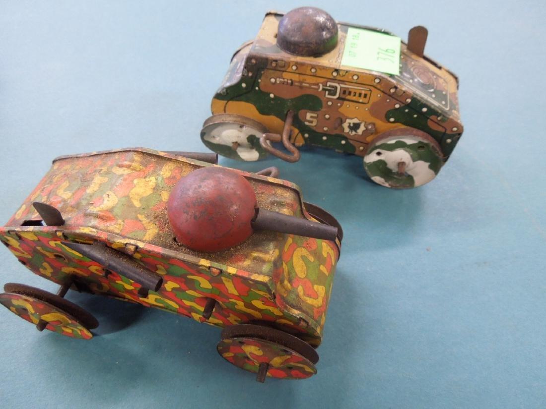 5 Tin Litho Wind-up Tanks - 8
