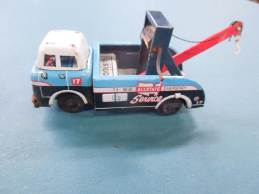 2 Vintage Tin Friction Tow Truck - 5