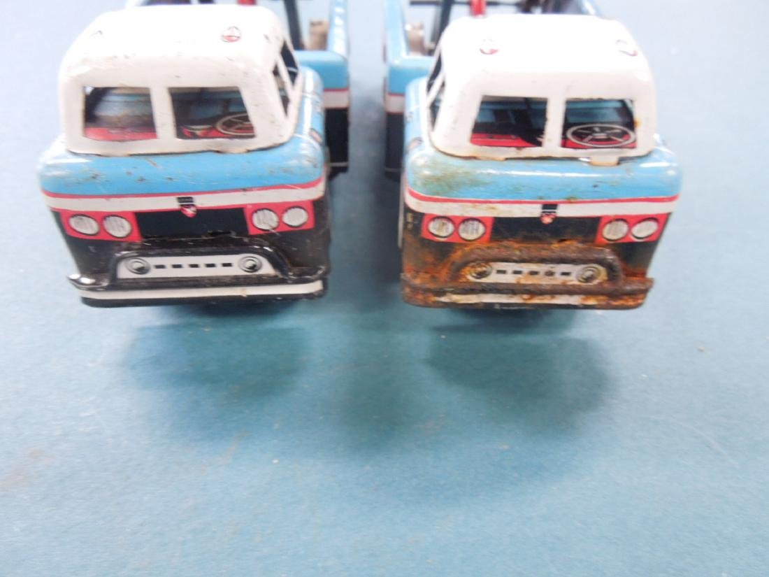 2 Vintage Tin Friction Tow Truck - 6