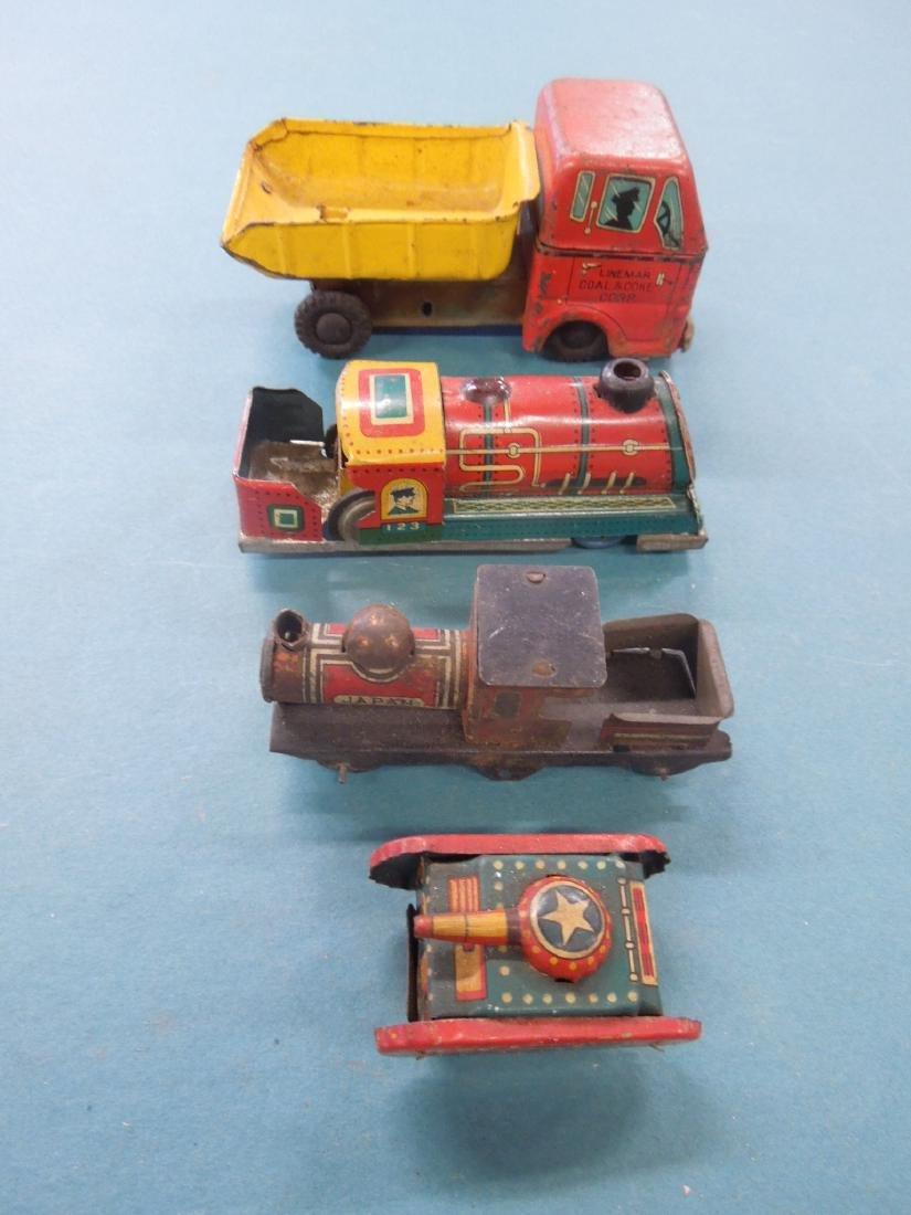 Lot Vintage Tin Litho Vehicles