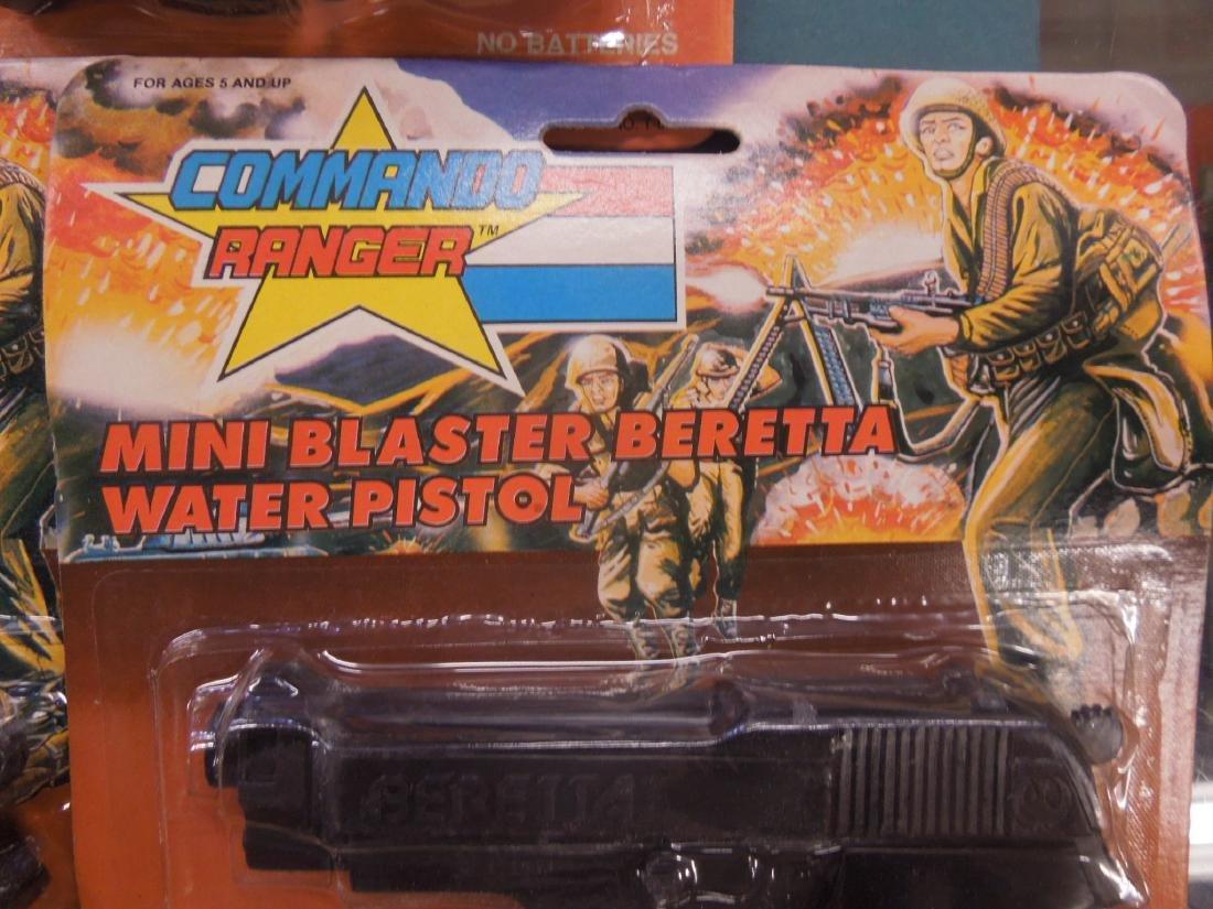 3 Vintage Commando Ranger Toy Water Pistols - 2