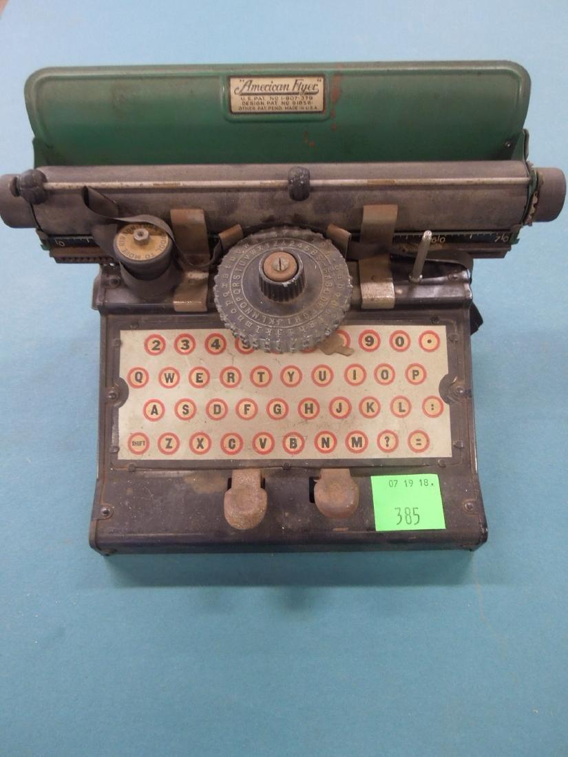 American Flyer Tin Typewriter