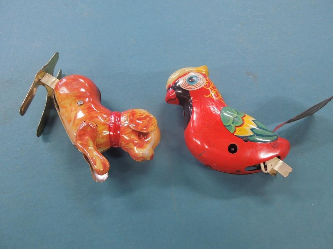 2 Vintage Tin Litho Wind-Up Toys