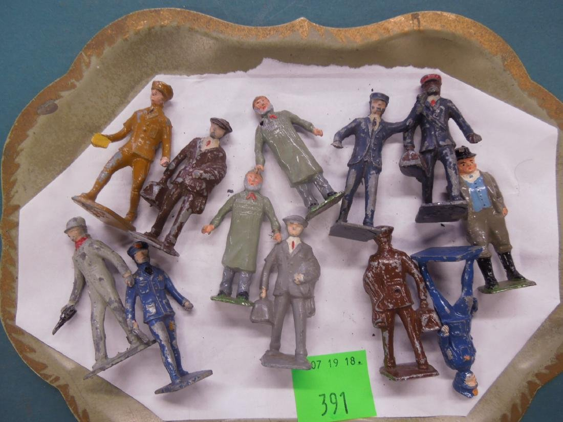 Lot Vintage Britains & Other Metal Railroad Figure