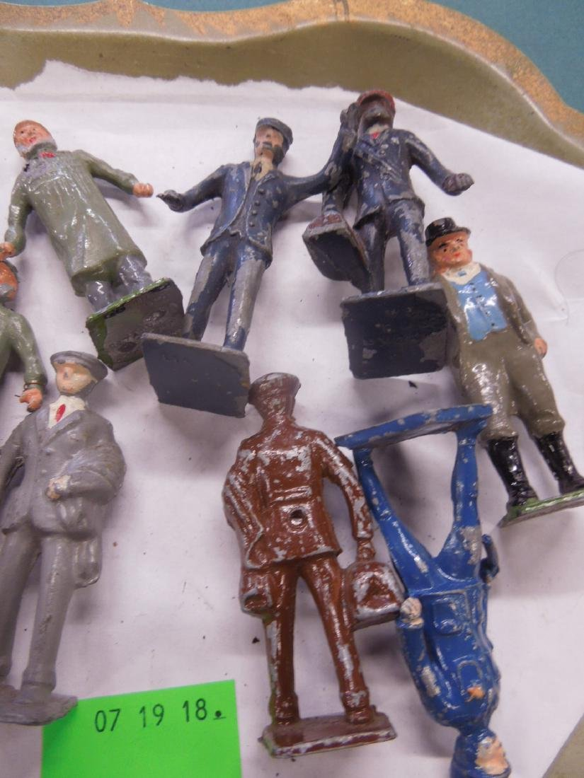 Lot Vintage Britains & Other Metal Railroad Figure - 3
