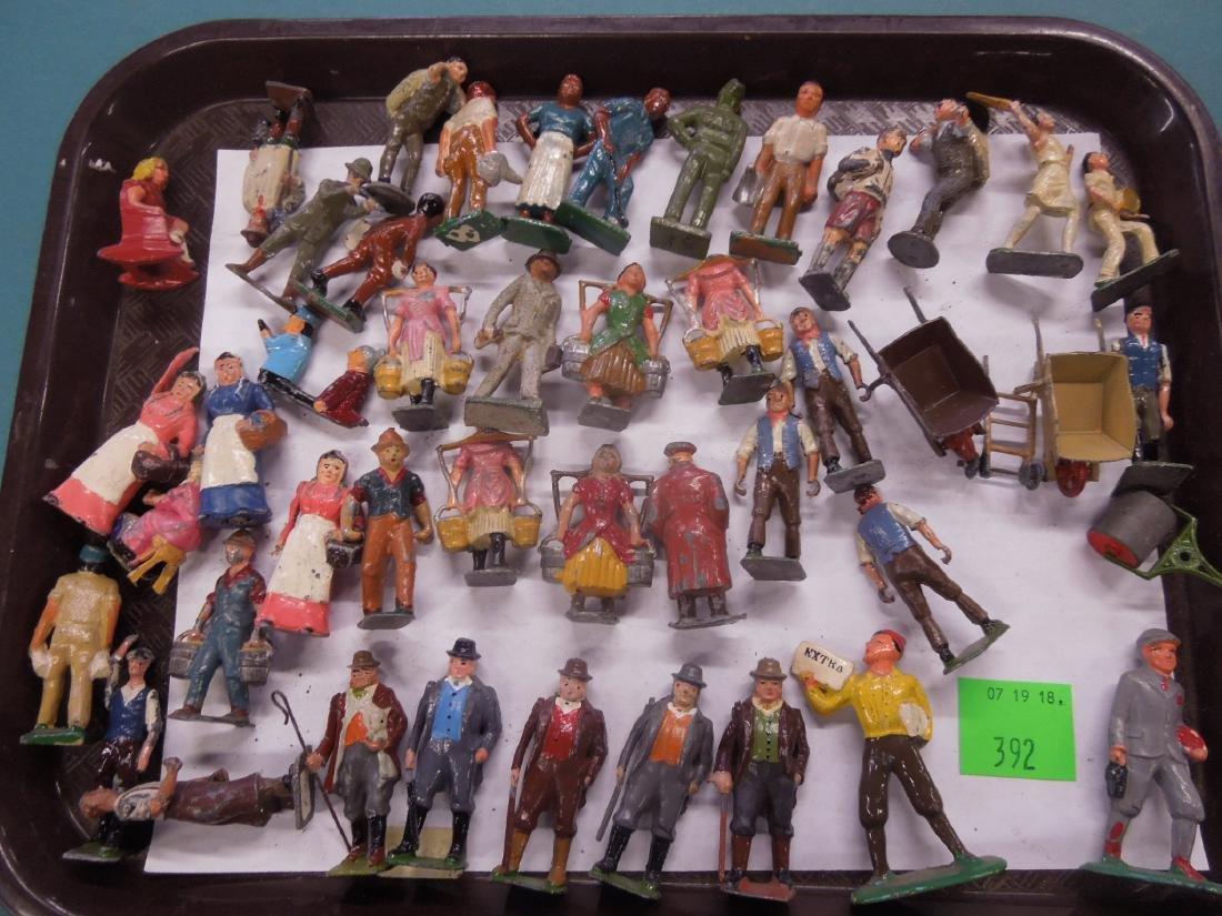 Large Lot Vintage Metal Figures