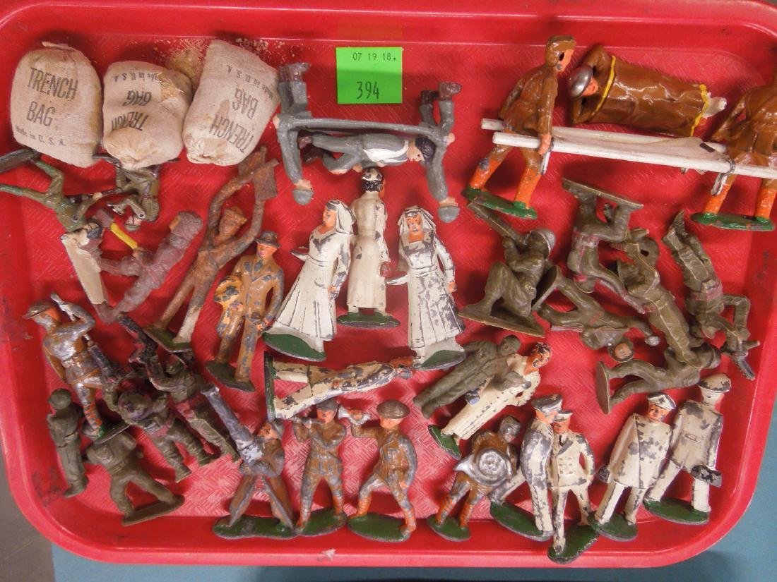 Lot Vintage Metal & Other Army Figures