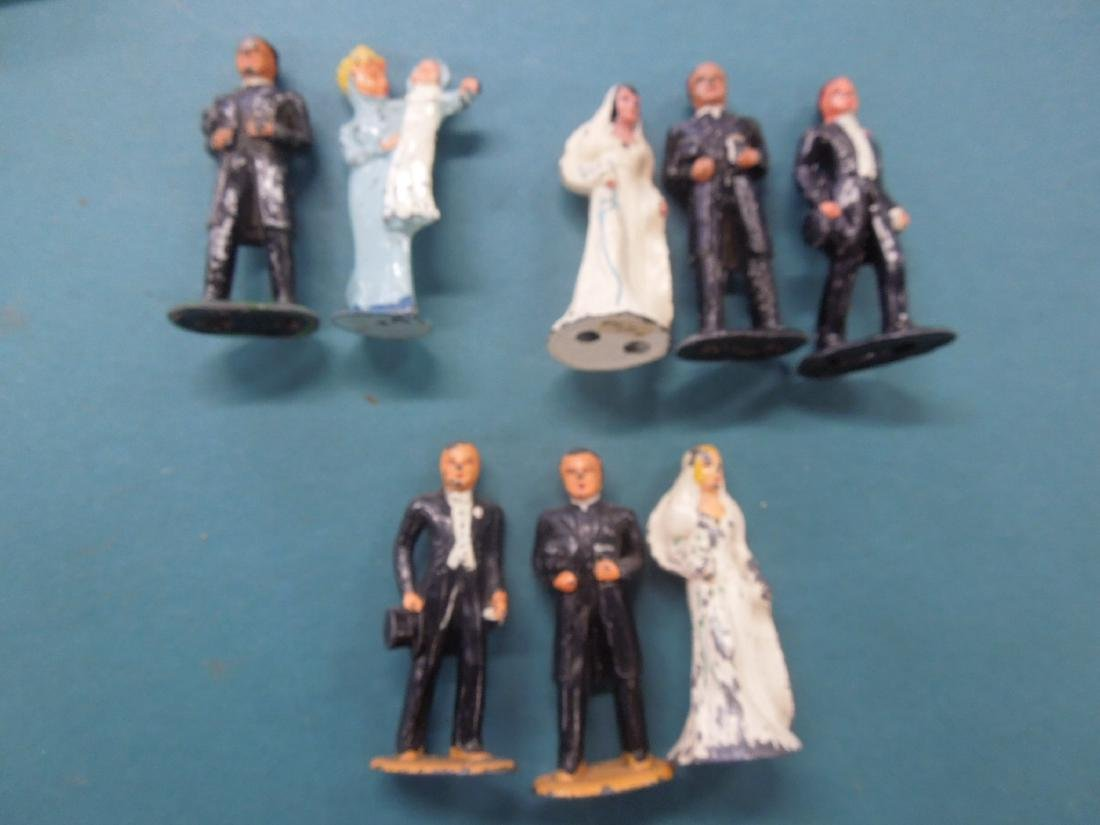 8 Vintage Barclay Metal Figures