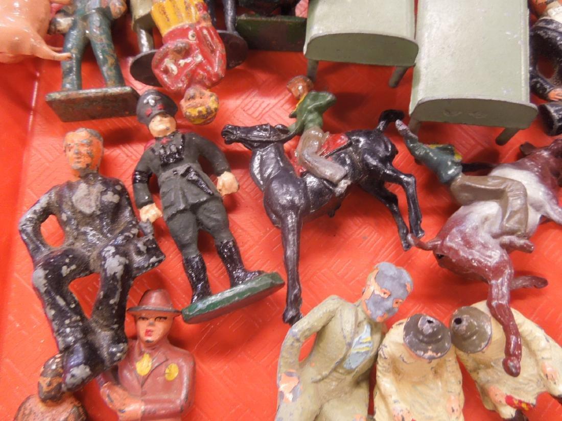 Lot Vintage Metal Figures - 5