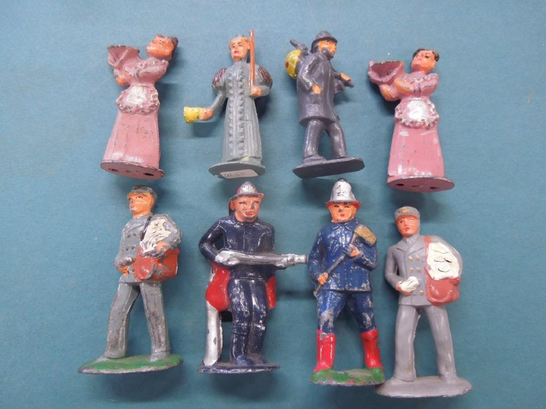 8 Vintage Metal Workers & Other Figures