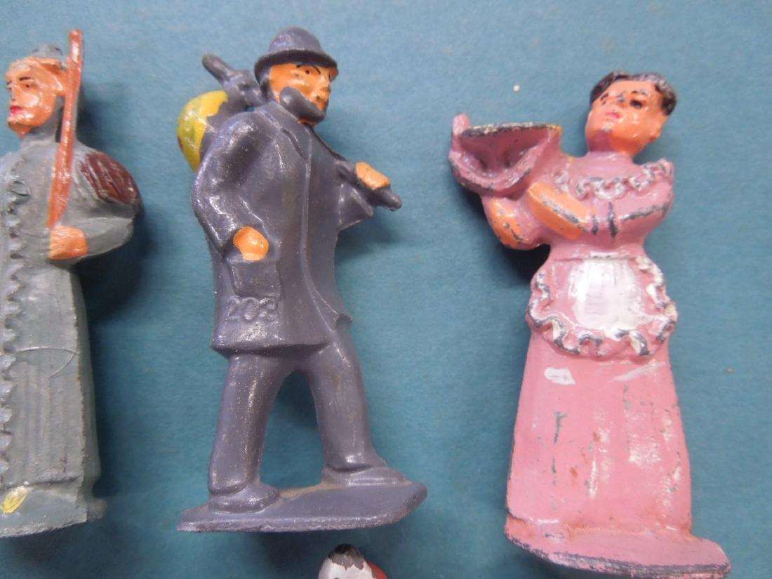 8 Vintage Metal Workers & Other Figures - 3