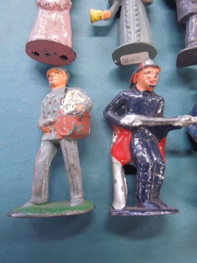 8 Vintage Metal Workers & Other Figures - 4