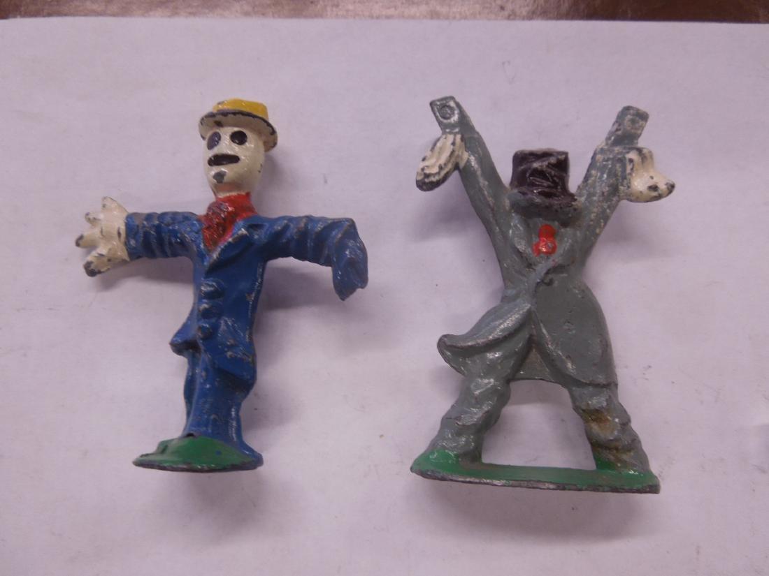 2 Rare Manoil Metal Scarecrow Figures