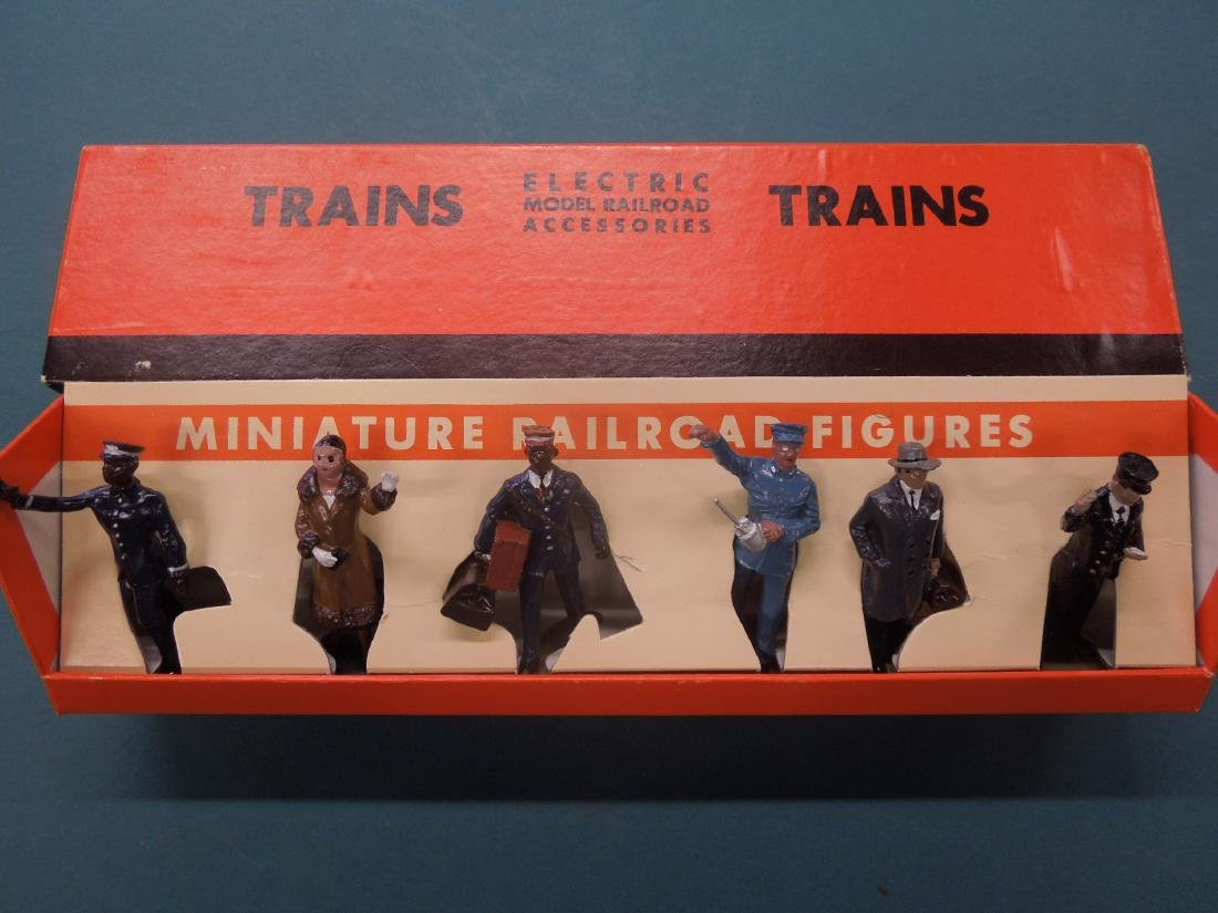 6 Metal Miniature R.R. Figures in Box